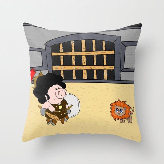 Maximus Piggus Throw Pillow