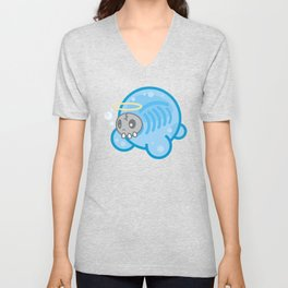 Tamanee Bubble Ghost Unisex V-Neck