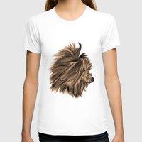 yorkie T-shirts featuring Burt Reynolds the Yorkie  by Rachel Barrett
