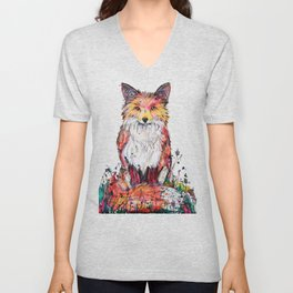 Autumn Fox Unisex V-Neck