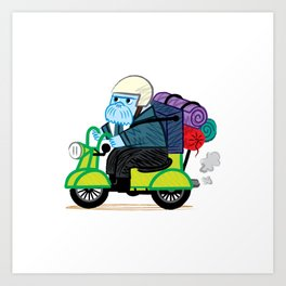 The Walrus Biker Art Print