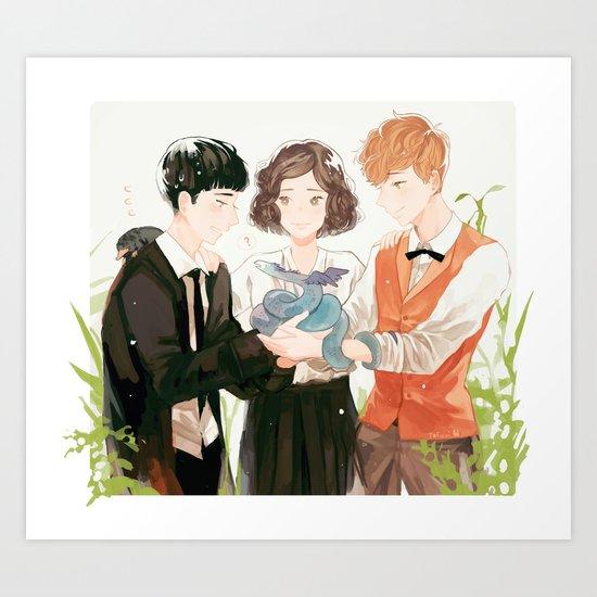 new friends. Art Print