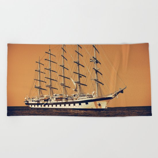 Old Ship Beach Towel