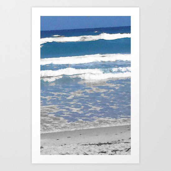 faded beach Art Print