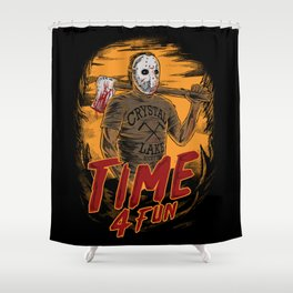 Time for fun Shower Curtain