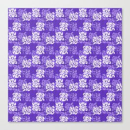 Swanky Mo Purple Canvas Print