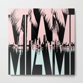 Miami colors Metal Print