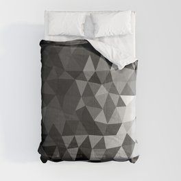 Gray Geometric Pattern Comforters