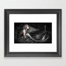 Mermaid at Midnight Framed Art Print