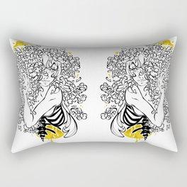 Inktober : Shy Rectangular Pillow