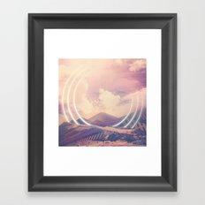 Radiate Mountain Framed Art Print