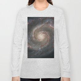 The Whirlpool Galaxy - Space Photograph Long Sleeve T-shirt