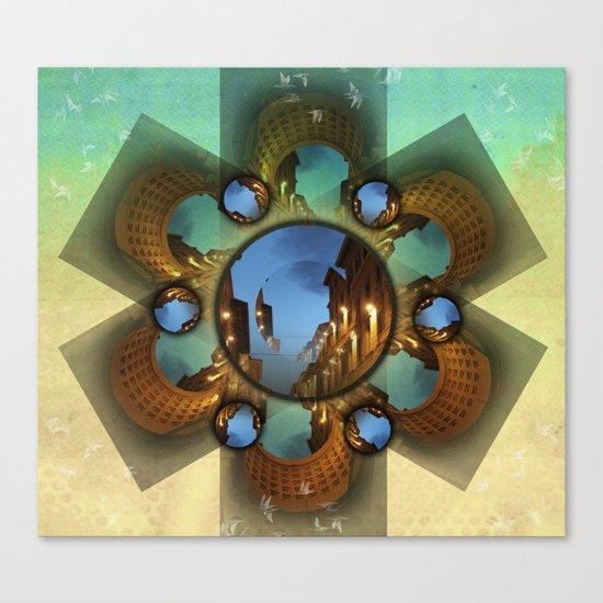 Emerald orbit Canvas Print