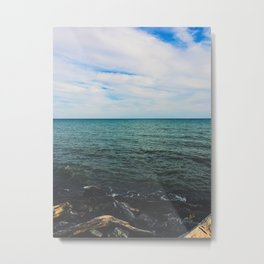 Looking out at the sea Metal Print