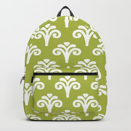 Floral Pattern Chartreuse 243 Backpack