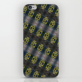 Brass Knuckles Pattern iPhone Skin