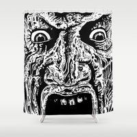 freddy krueger Shower Curtains featuring Freddy Face by Wade Miles