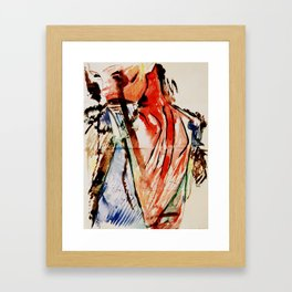 Skeletal Framed Art Print