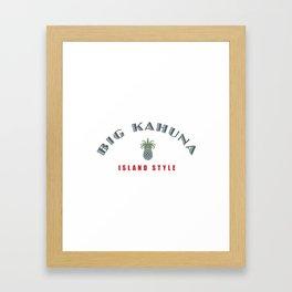 Big Kahuna Island StylePineapple Framed Art Print