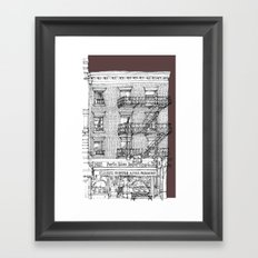 Porto Rico Importing Co._RED Framed Art Print