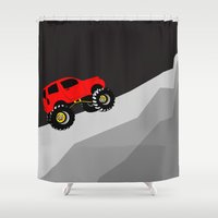 jeep Shower Curtains featuring offroad by Yonk