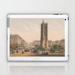 Paris art print Paris Decor office decoration vintage decor TOUR SAINT JACQUES of Paris Laptop & iPad Skin