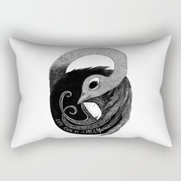 bird women 3 Rectangular Pillow