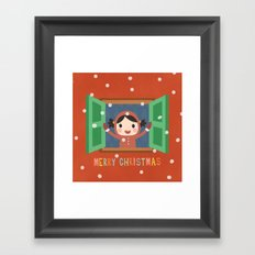 Day 20/25 Advent - Christmas Morning Framed Art Print