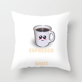 Espresso May Not Be The Answer But It's Worth A Shot Funny Coffee Pun Throw Pillow