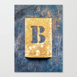 Letter B Canvas Print