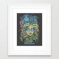 woodstock Framed Art Prints featuring Woodstock by Derrick Castle