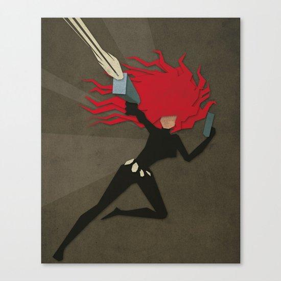 Paper Heroes - Black Widow2 Canvas Print