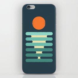 Minimalist ocean iPhone Skin