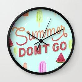Summer forever Wall Clock