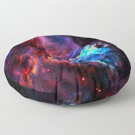 Colored Universe Floor Pillow