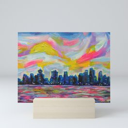 An Evening In Vancouver Mini Art Print