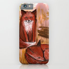 Brother Foxes iPhone Case