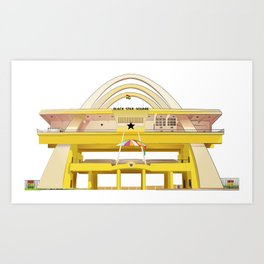 Ghana Black Star Square Art Print
