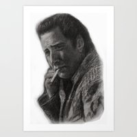 nicolas cage Art Prints featuring WILD AT HEART - NICOLAS CAGE by William Wong