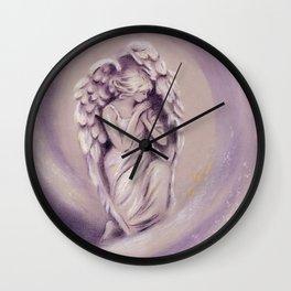 Guardian Angel - Angel painting Wall Clock