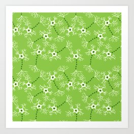 Green Neurons Art Print