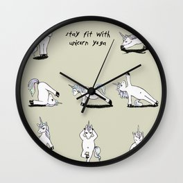 Unicorn Yoga Wall Clock