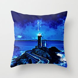lighthouse plouzane wsstd Throw Pillow