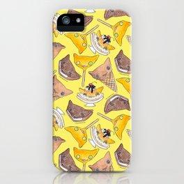 """""""Oro?"""" Ice Creams Yellow iPhone Case"""