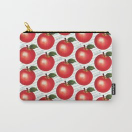 Apple Pattern - Ruled Carry-All Pouch