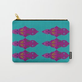 Paisleys purple blue Carry-All Pouch