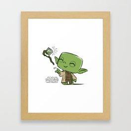 Yoda Selfie Framed Art Print