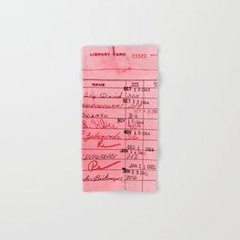 Library Card 23322 Pink Hand & Bath Towel