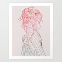 huebucket Art Prints featuring Someplace Beautiful by Huebucket