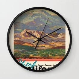 Vintage poster - California Wall Clock